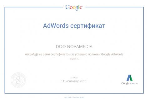 Novamedia Doo - Google Certifikat